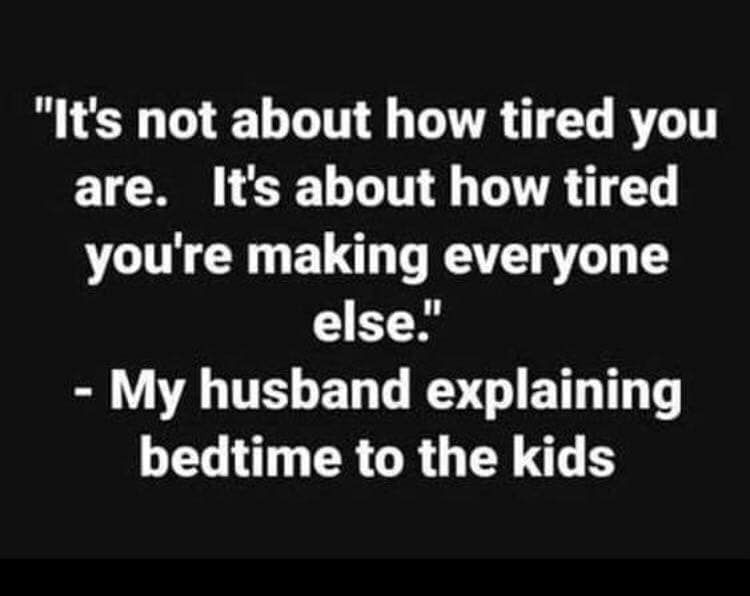 Bedtime drama....