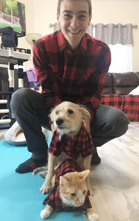 My husband didn't think I'd find shirts to match them!