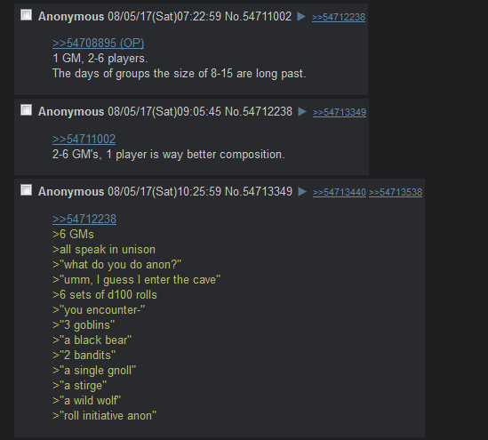 Anon on party sizes