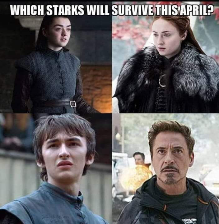 Which Stark is going to survive this April?