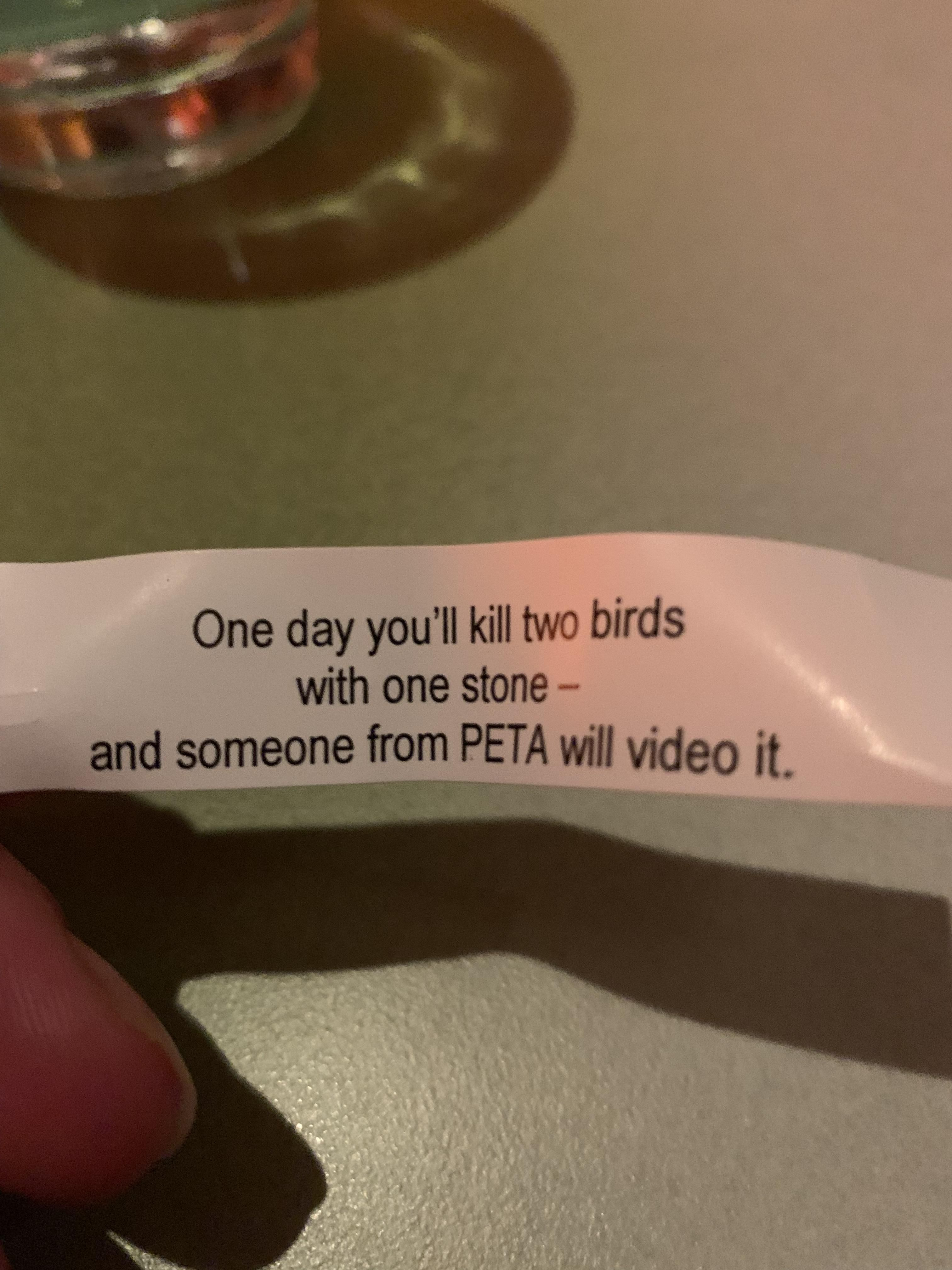 A fortune I got today.