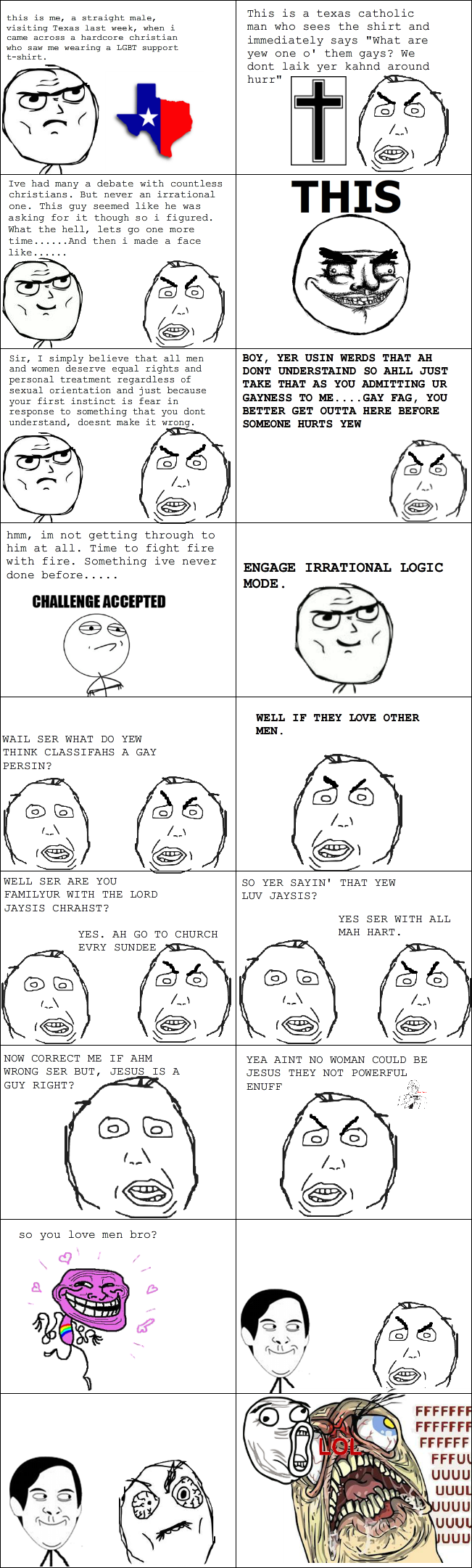 Illogical Atheist Rage (Long, bare with me)