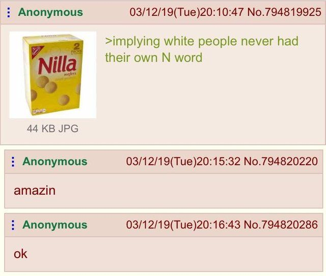 Anon has an N-word pass