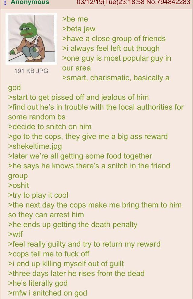Anon the snitch