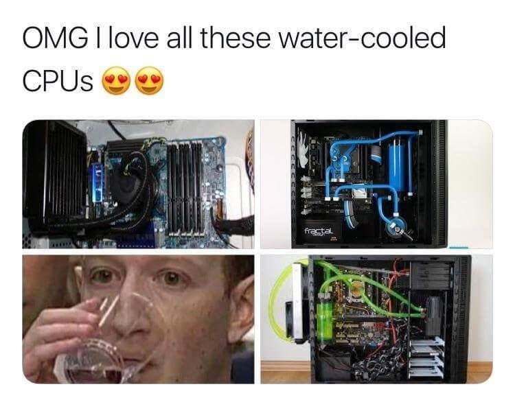 Gotta love yourself some watercooled cpus