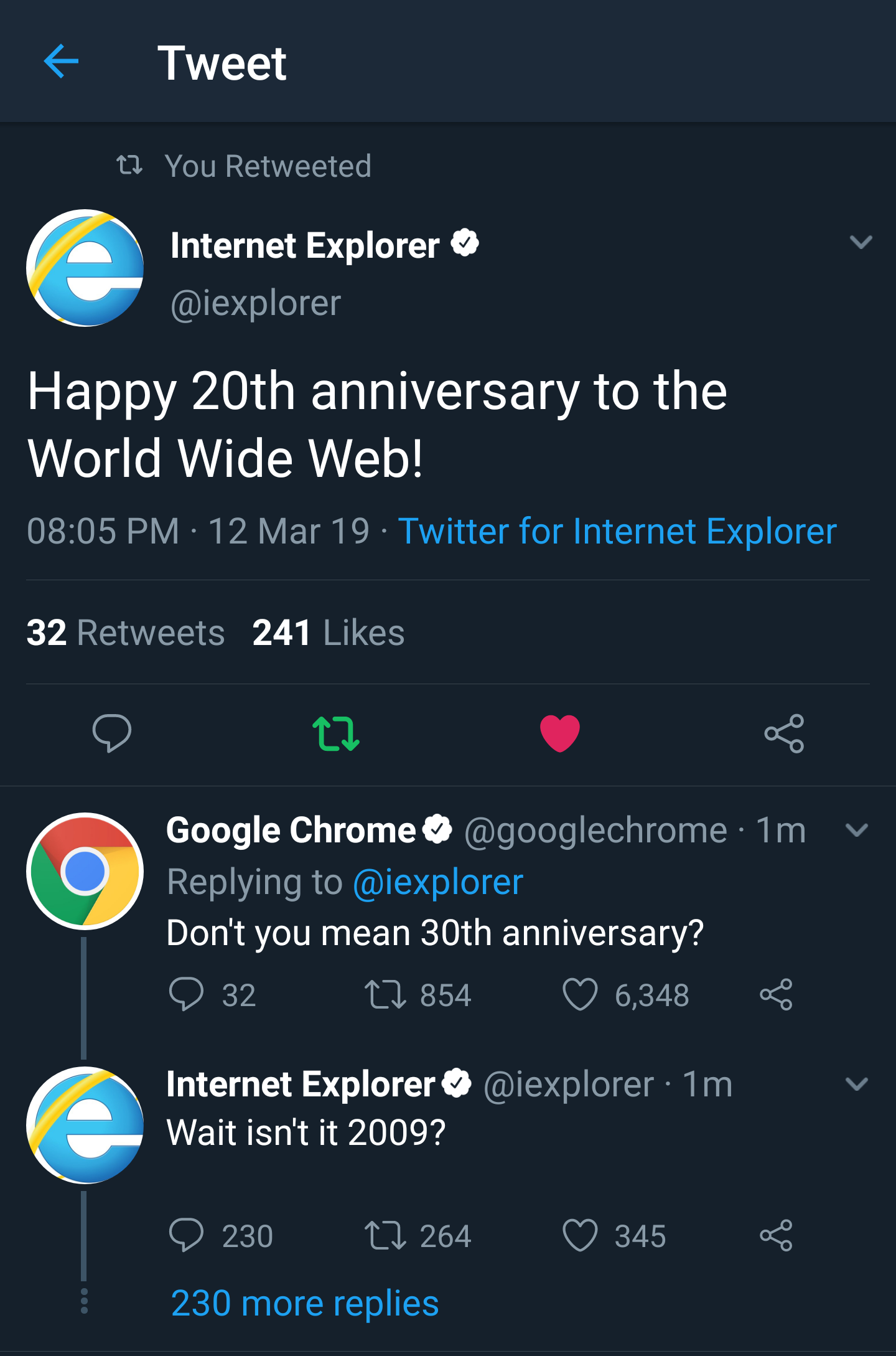 Good old Internet Explorer