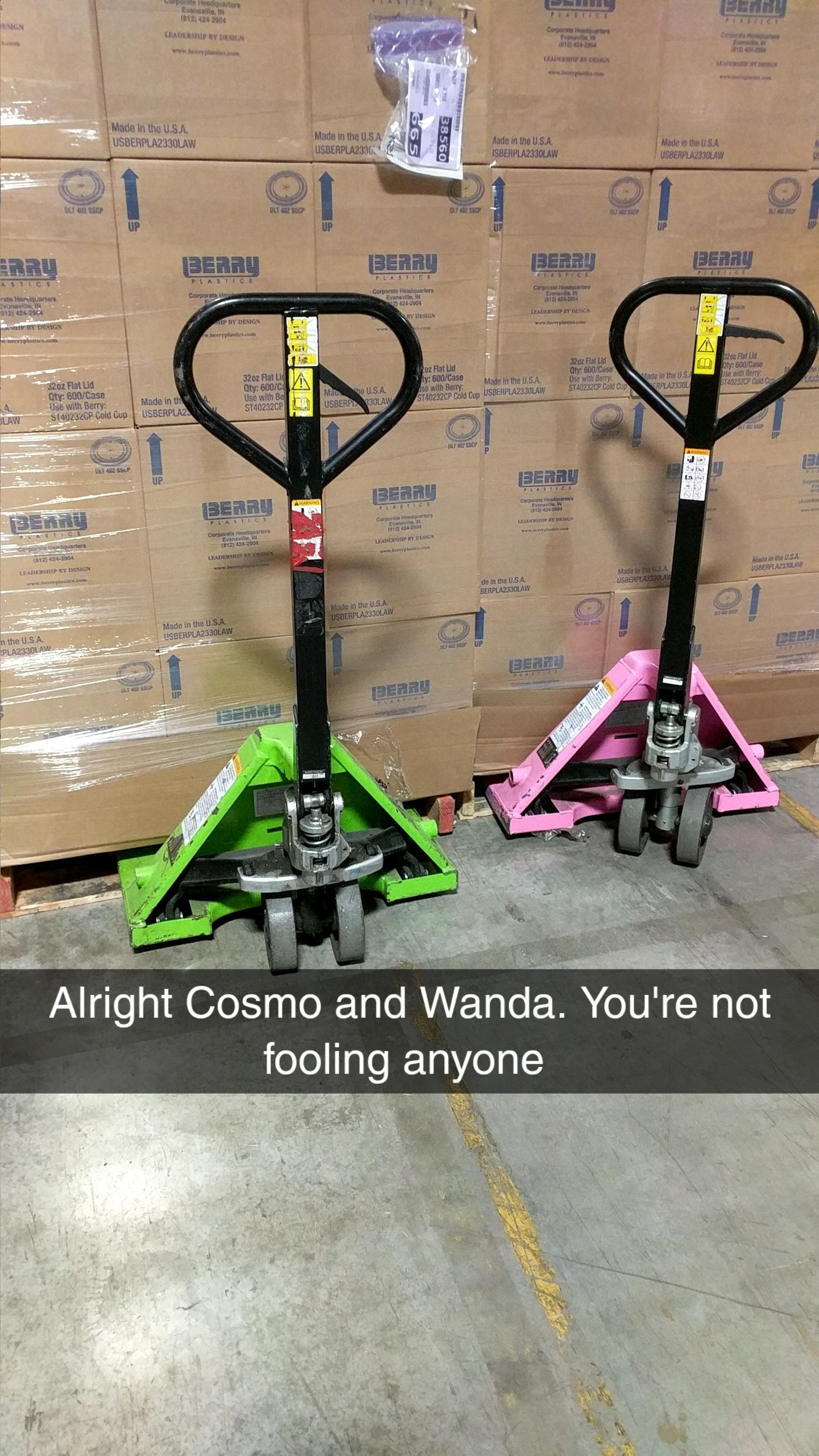 Found Cosmo and Wanda trying to be sneaky at my work today.