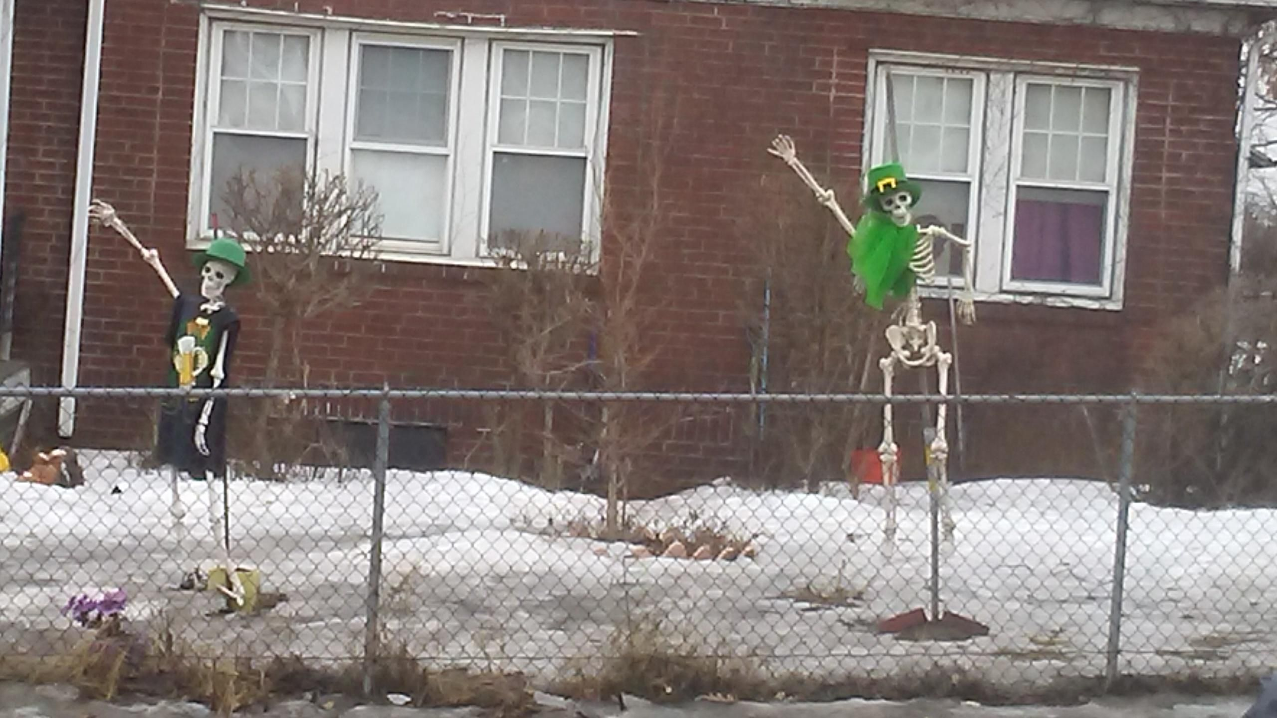 I'm not even mad at these people that never took down their Halloween decorations. They just dress them up for other holidays.