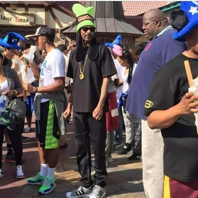 Snoop Dogg at Disneyland