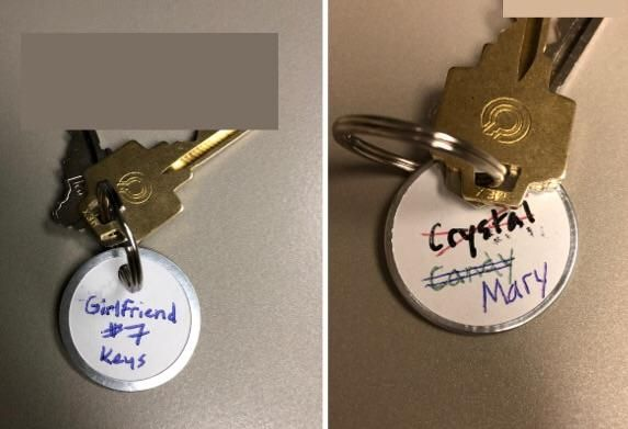I gave my girlfriend a set of keys to my apartment today
