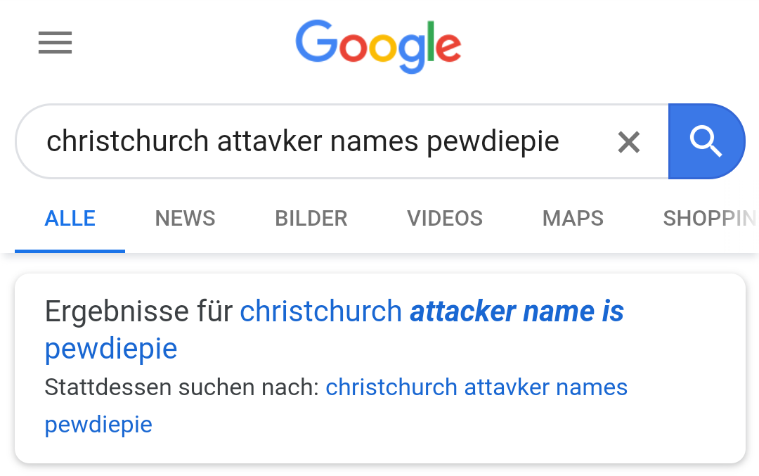 I made a typo while searching and this happened