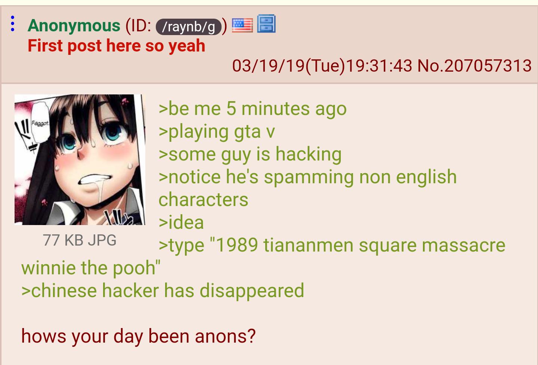 Anon plays GTA