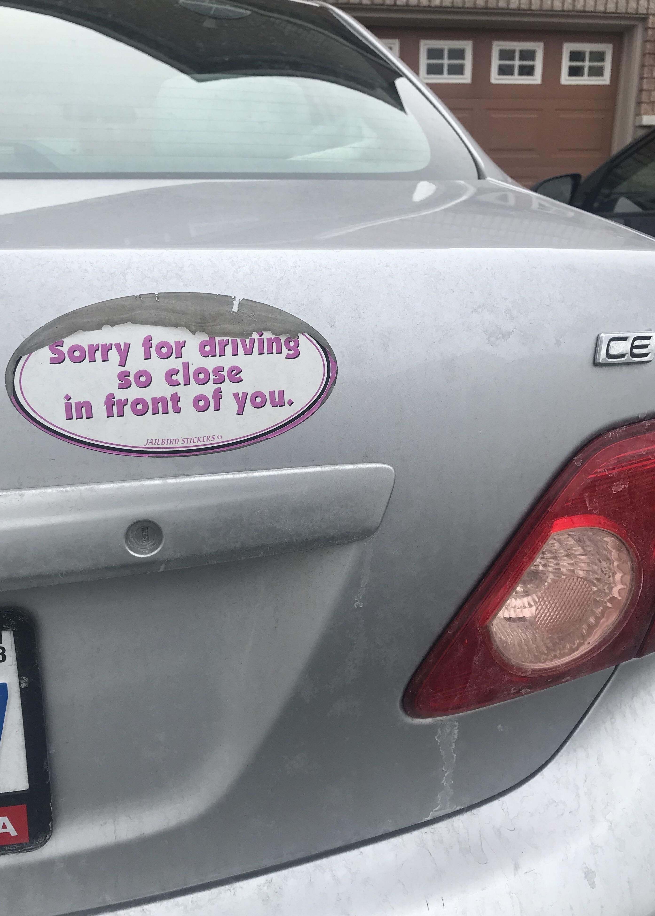 Best bumper sticker