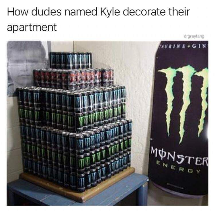 Wow, he has at least 5 days worth of monster