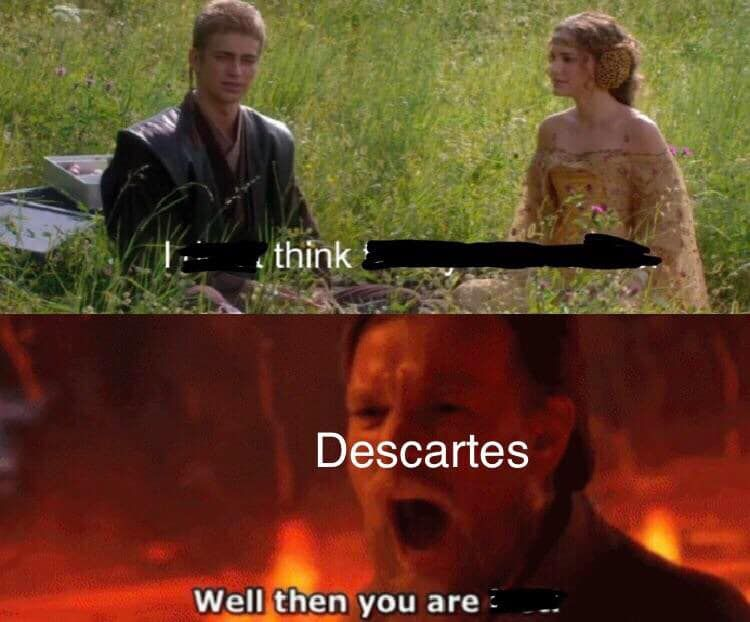 You Cant Just Take Prequel Memes And Quote Descartes
