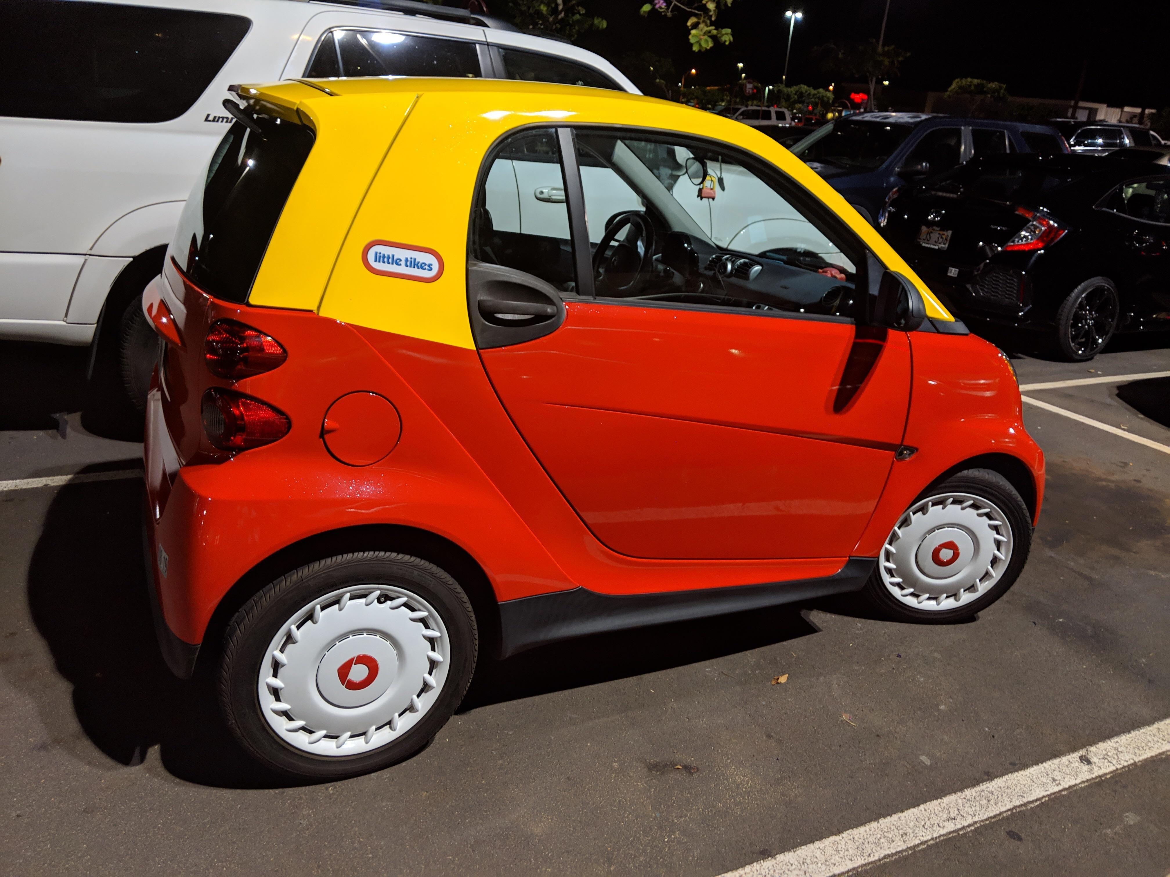 It's a kiddie car!