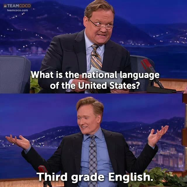 What is the national language of the United States?