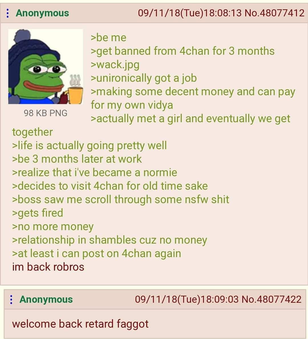 Anon gets banned