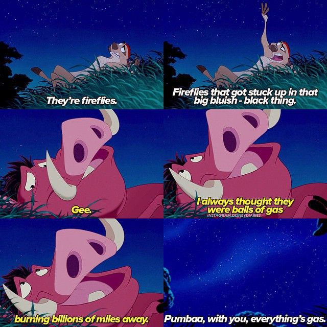 Pumba dropping knowledge