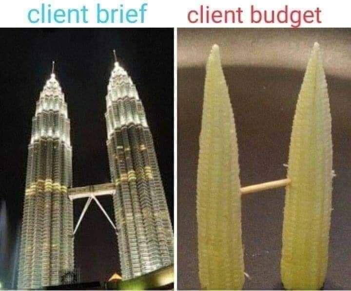 Client expectation vs client budget