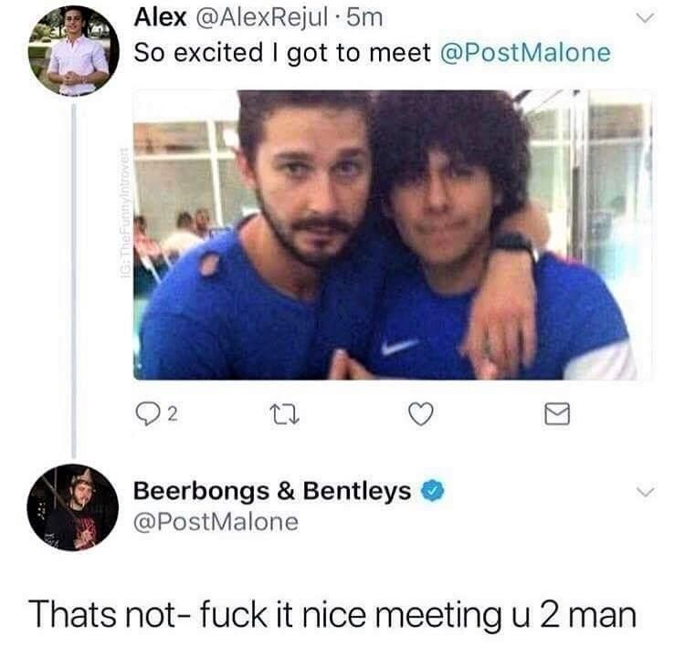Meeting celebrities is always exciting.