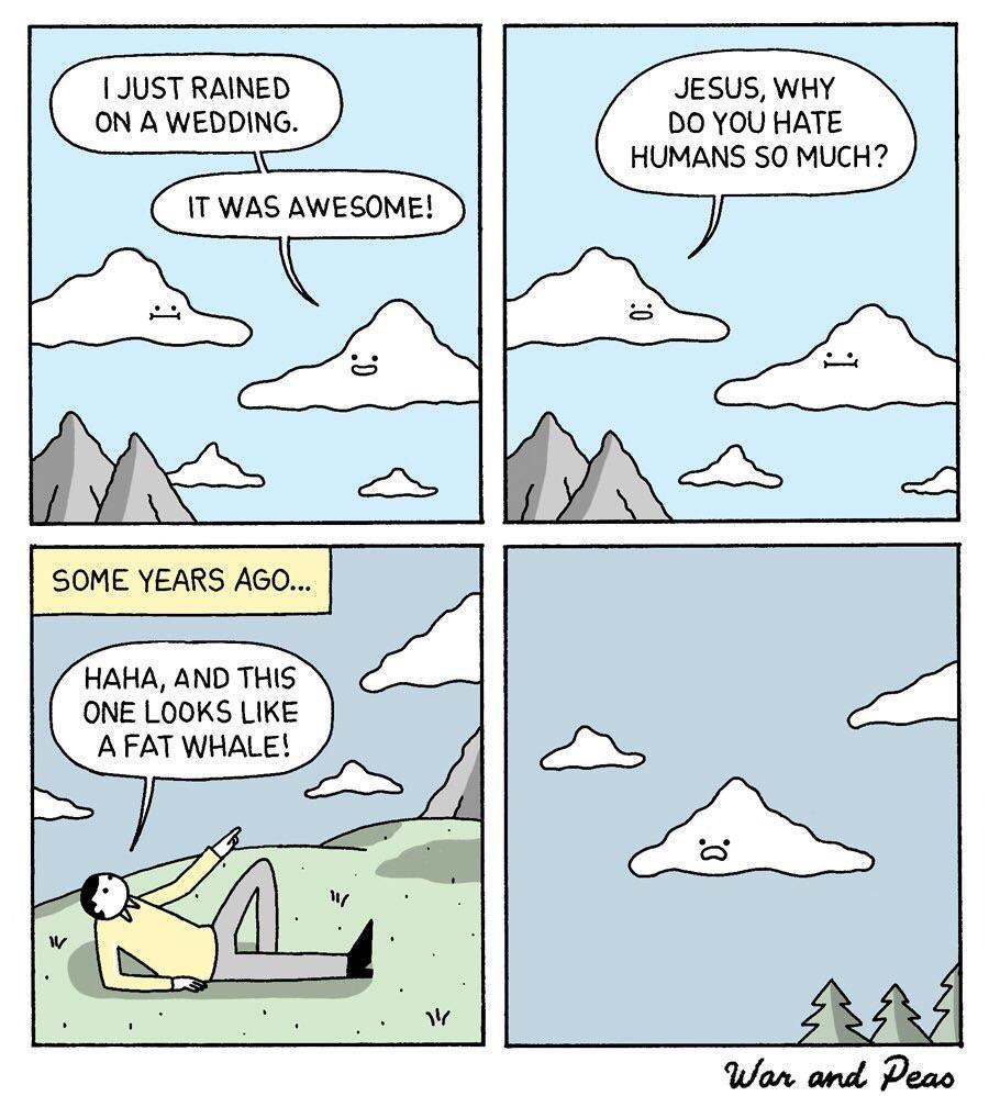 Clouds have feelings too!