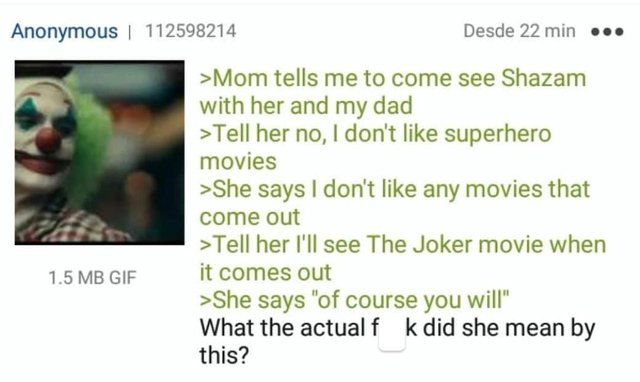 Anon doesn't watch Shazam