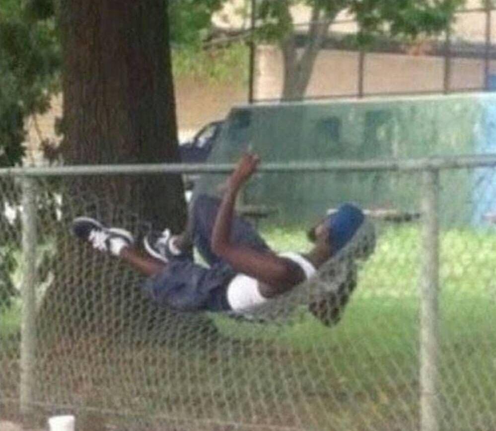 A hood hammock