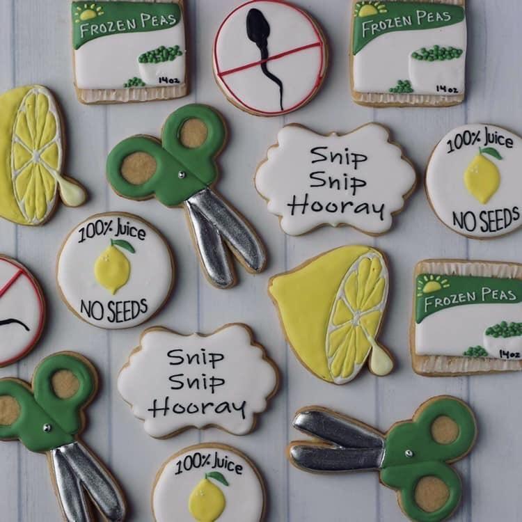 Vasectomy celebration cookies