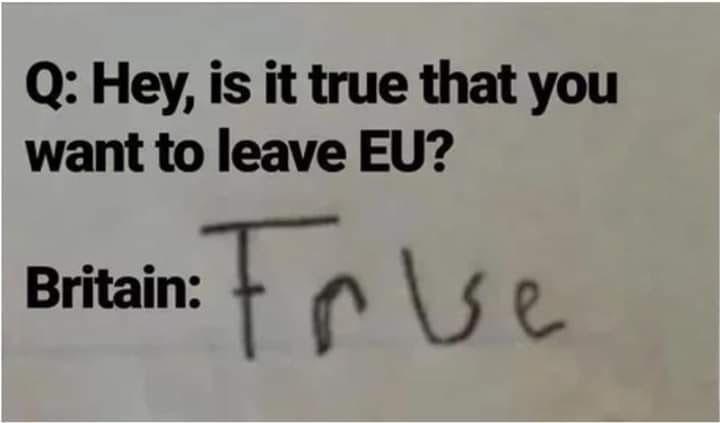 Sorry, braxit