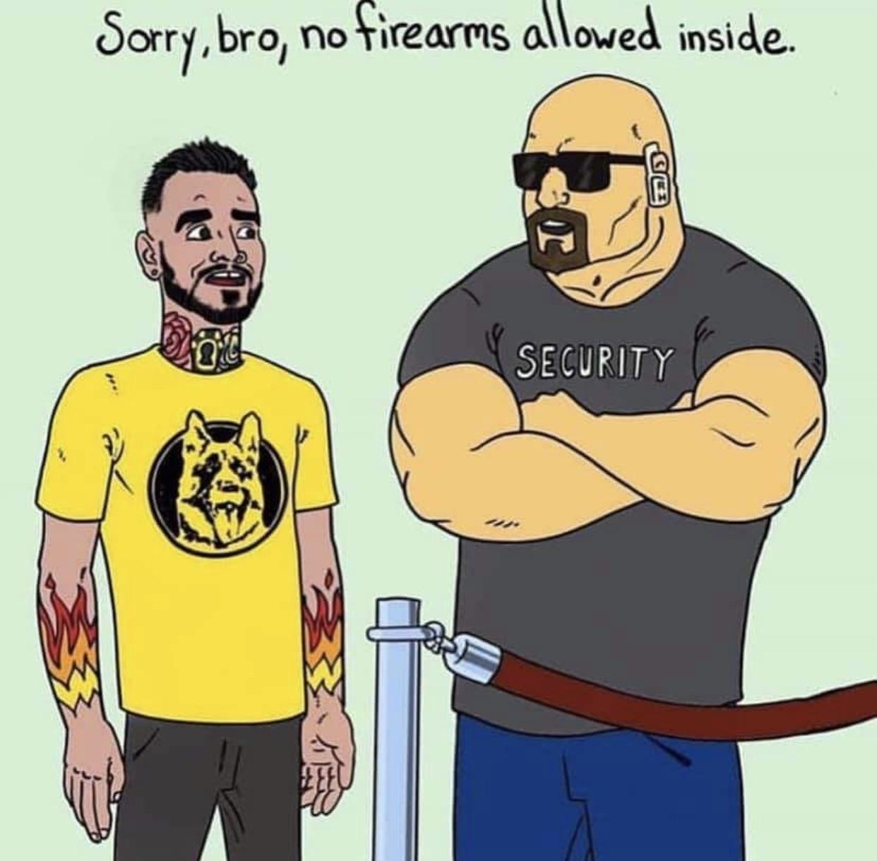 No firearms allowed