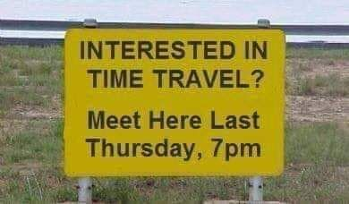 For those interested in time travel.