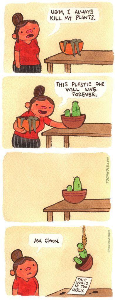 Suicidal plants?