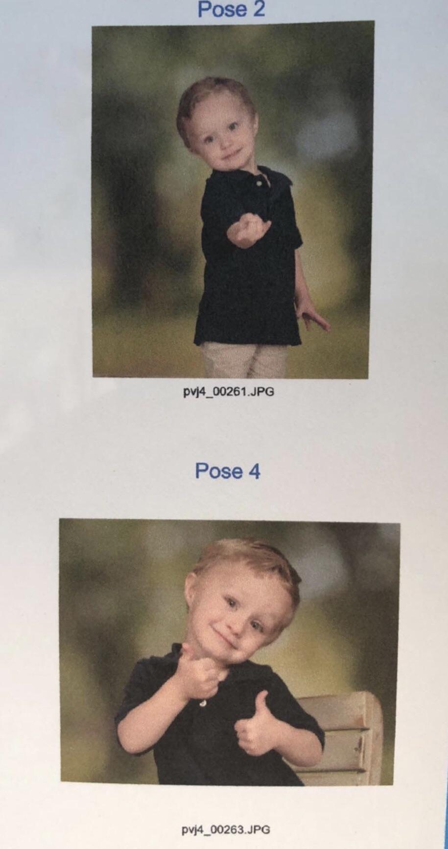 My nephew's school pictures