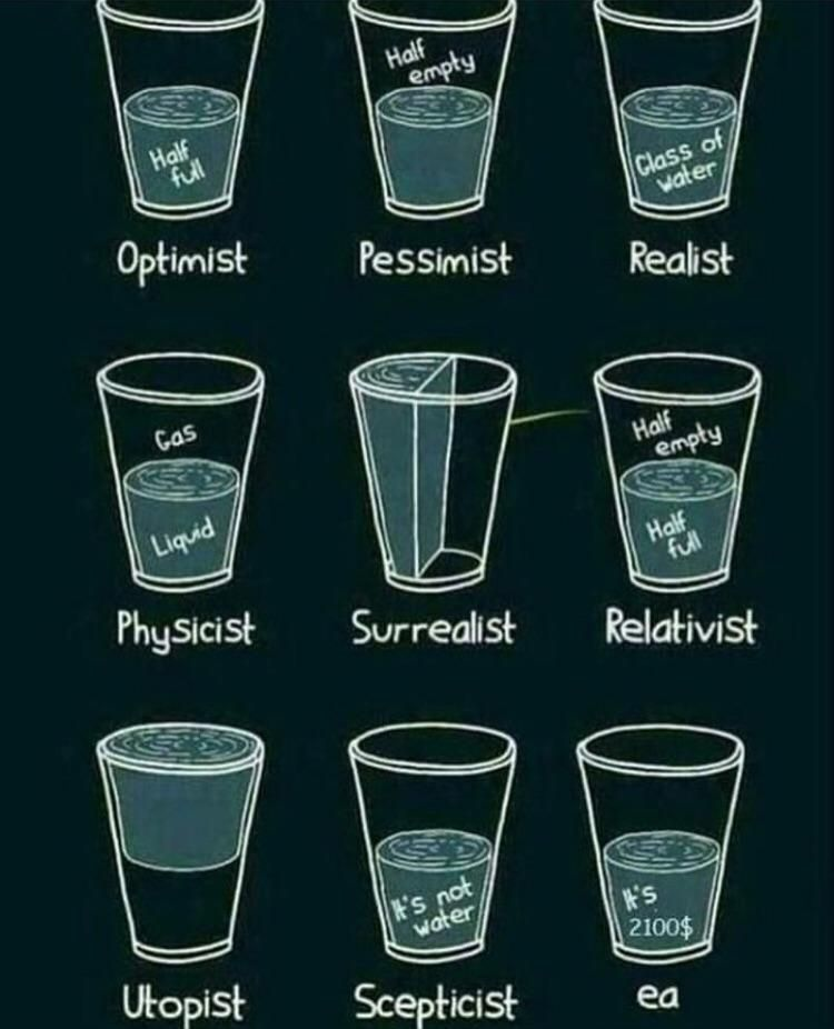 Glass half full from 9 points of view