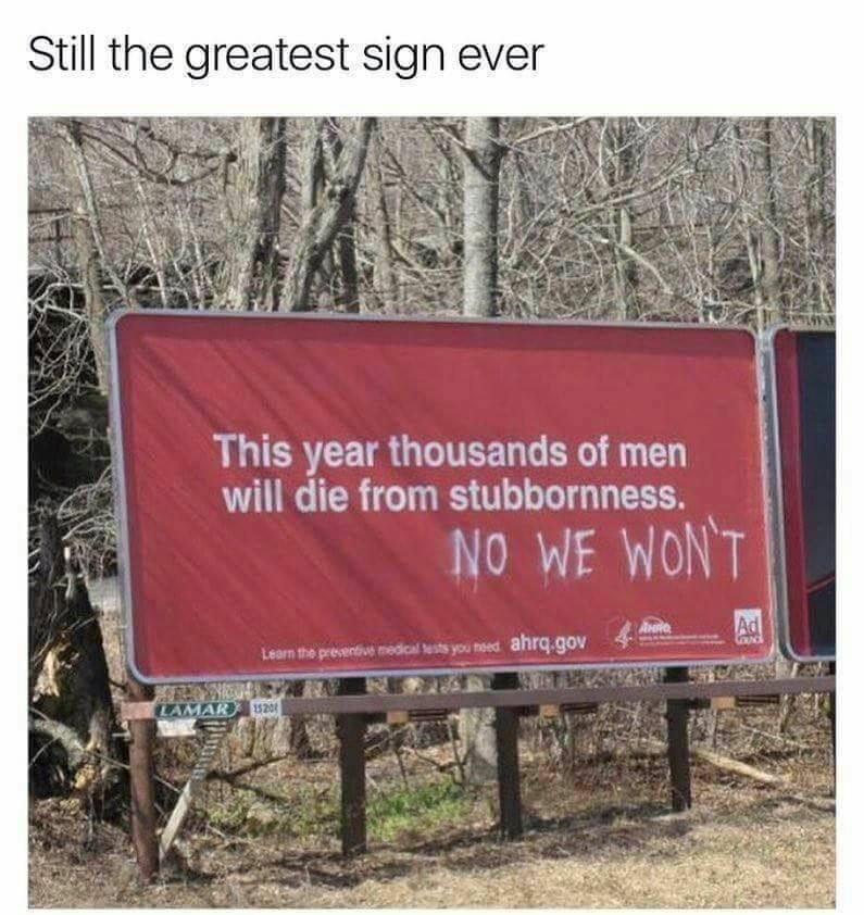 The best sign!