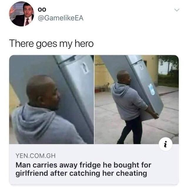 There goes a true hero.