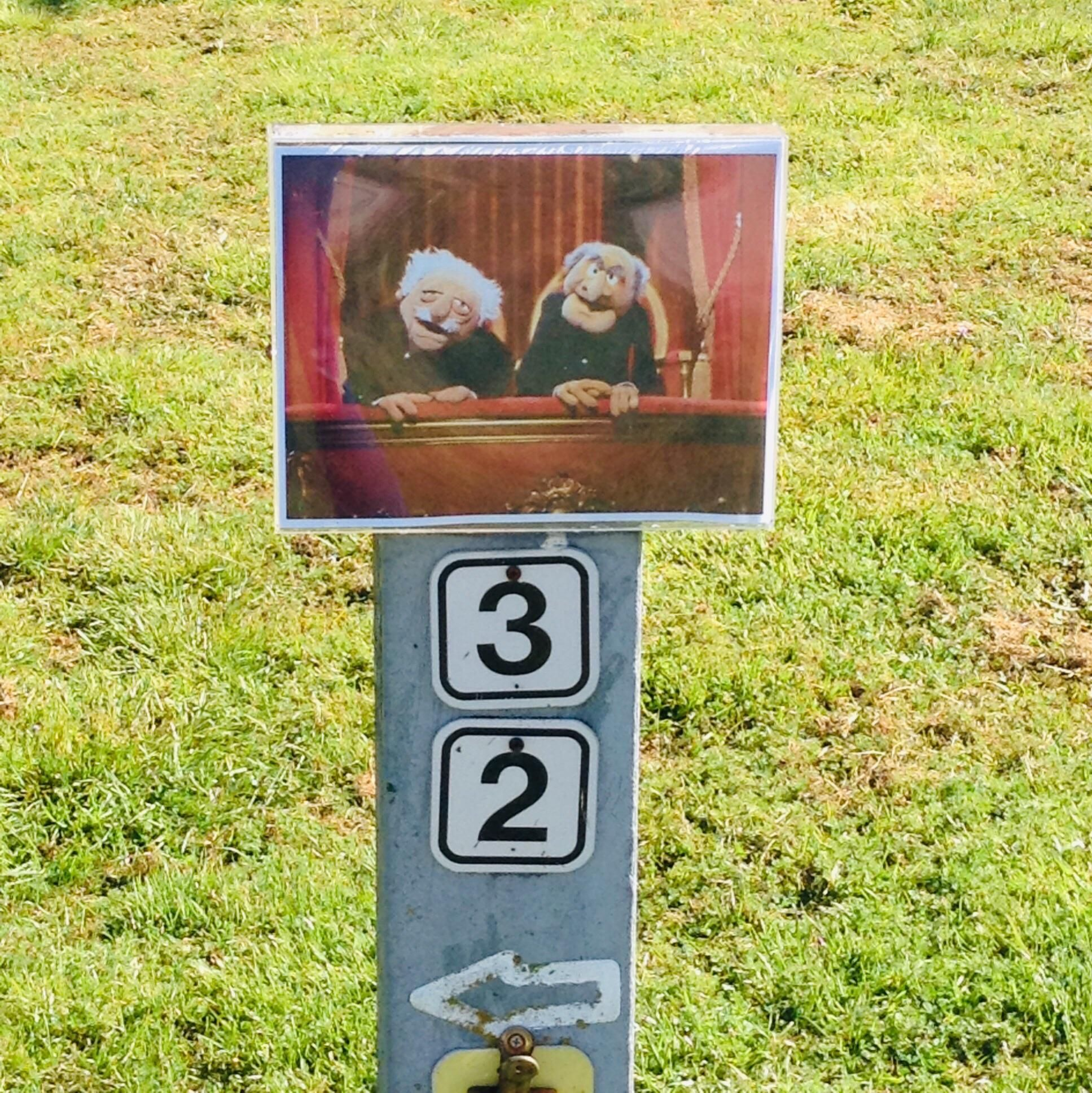 Two funny retired guys next to our family's campsite had this sign on their camping spot...