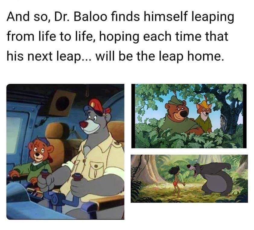 Hopefully the last leap isn't at the zoo...