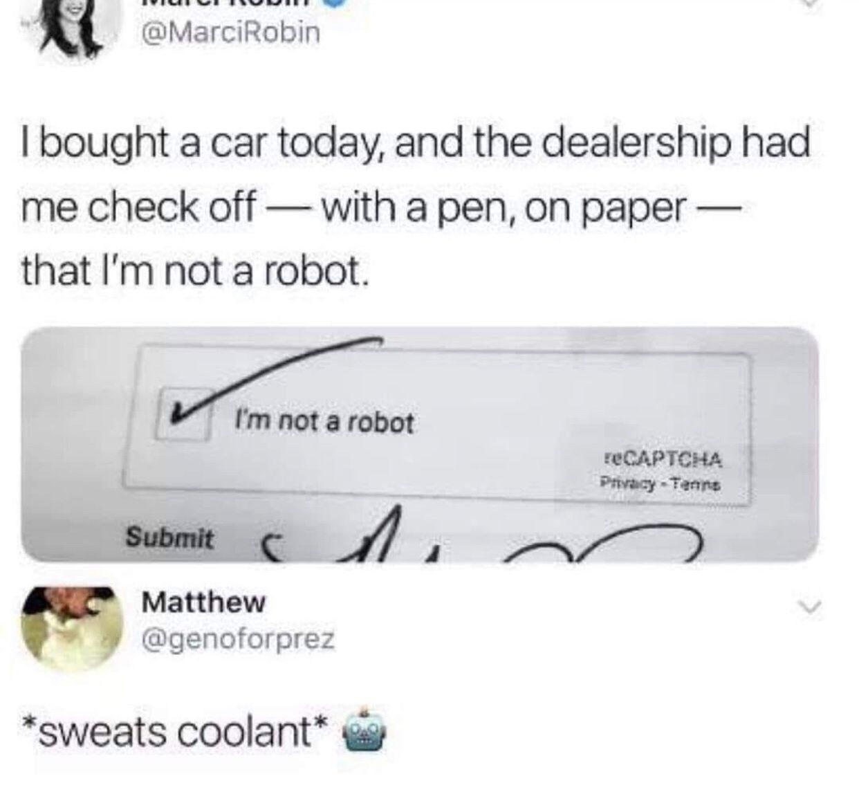 Greetings fellow humans