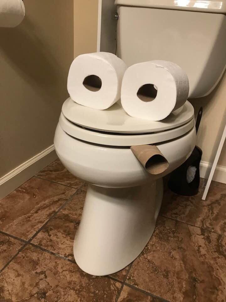 My friend's bathroom made me laugh
