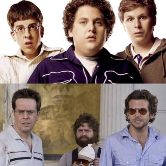 The Hangover characters look like the Superbad characters grown up