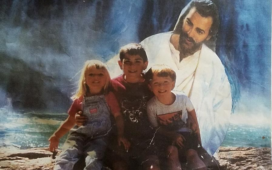 My grandma used to photoshop Jesus into all of our family photos