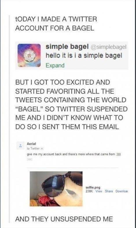 The triumph of a simple bagel