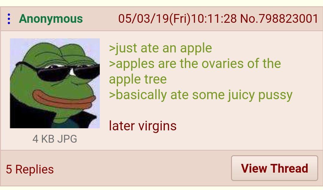 Anon eats an Apple