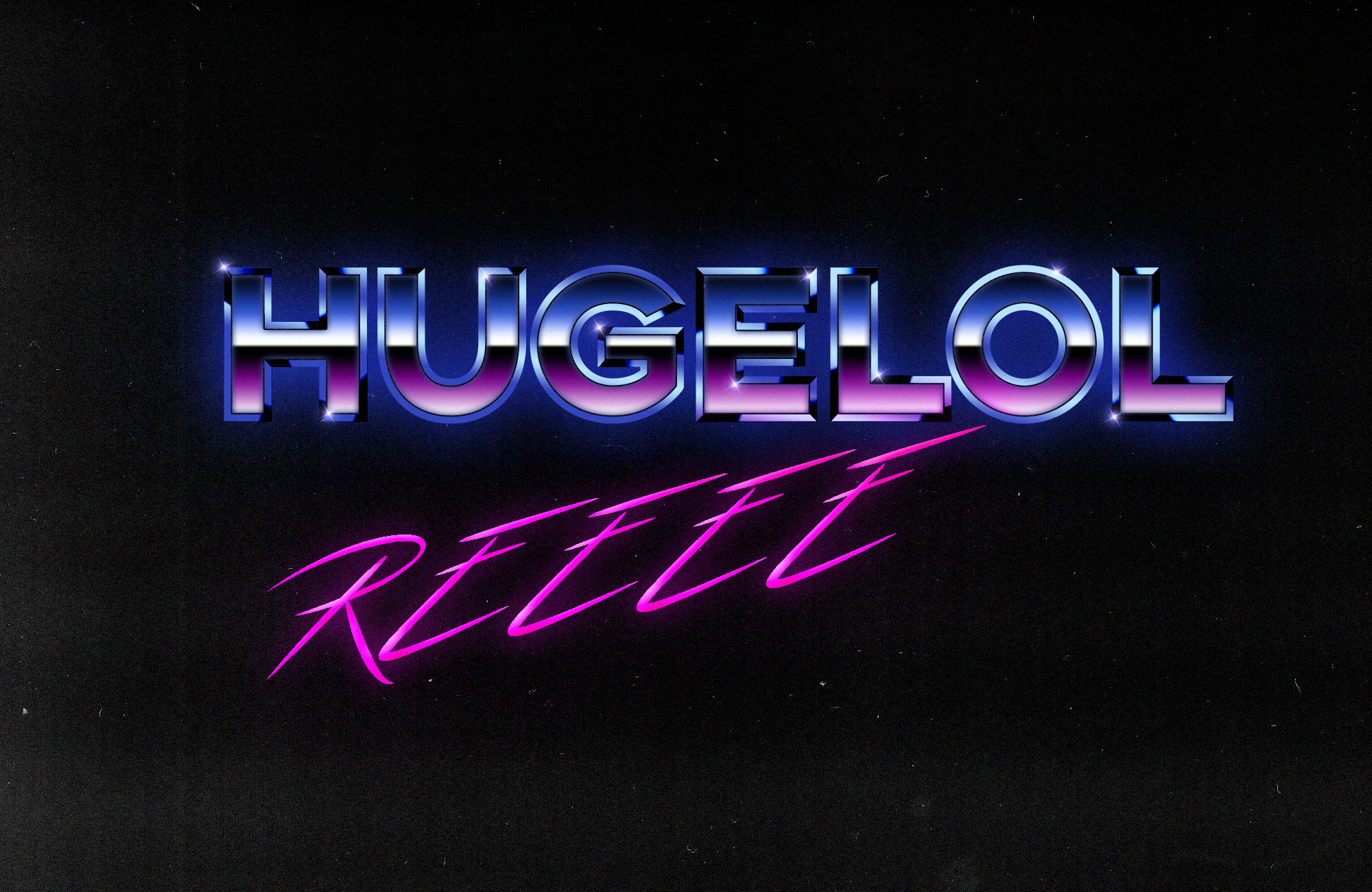 Made a Hugelol Logo in Photoshop :)