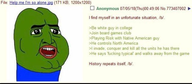 Anon plays Risk