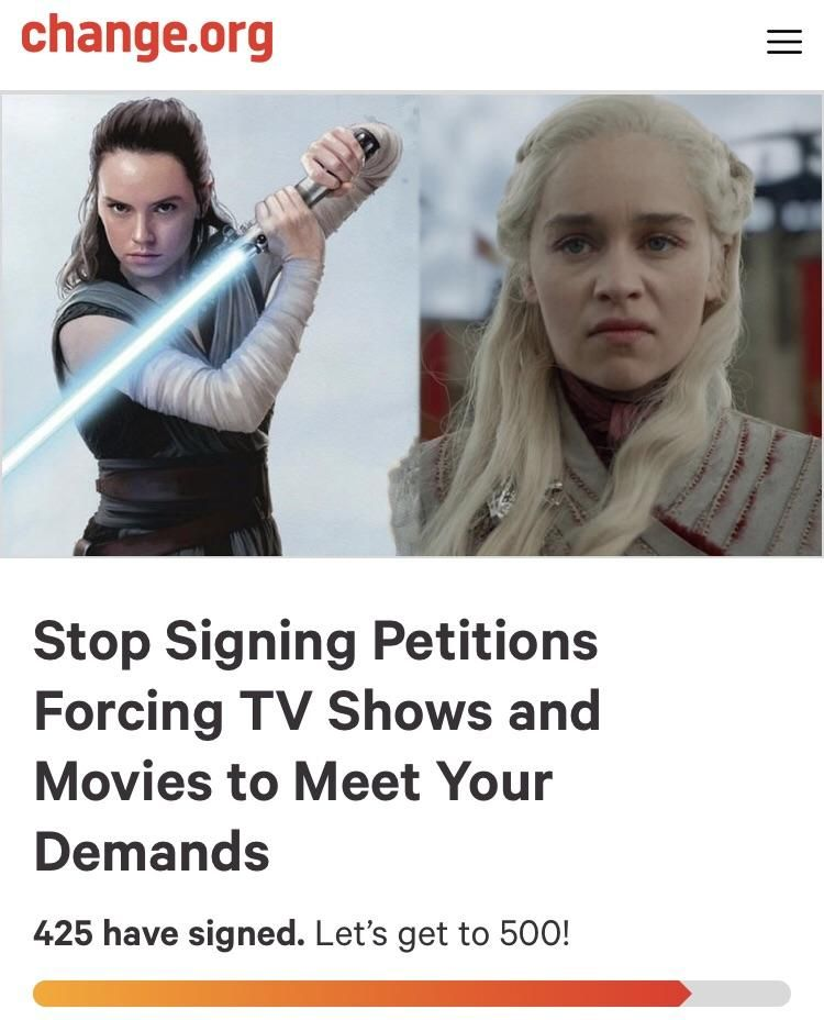 Finally, a petition I can get behind!