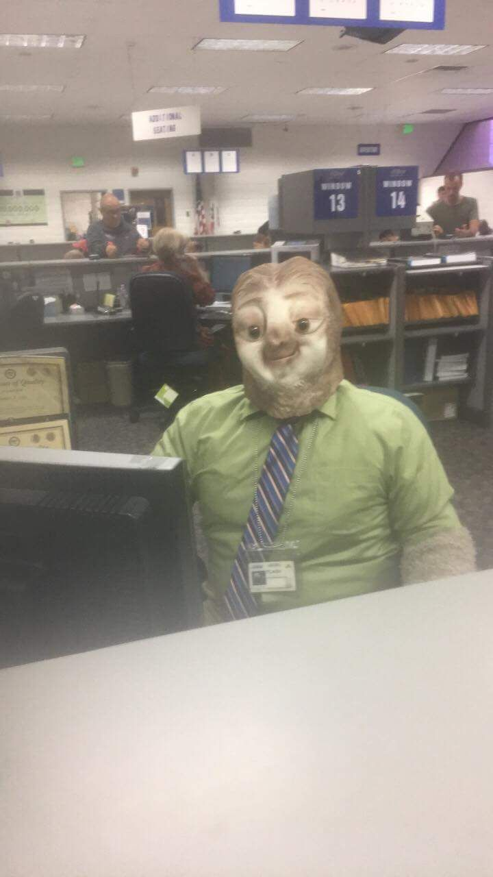 So my friend went to the DMV on Halloween.