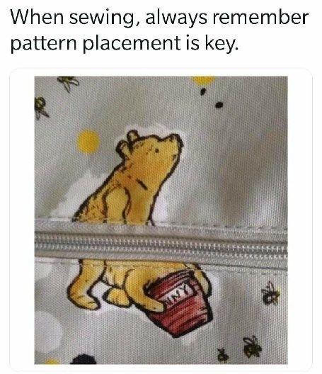 Aware winning zipper placement.